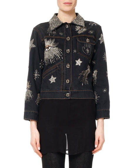 Isabel Marant Eloise Embellished & Embroidered Jean Jacket