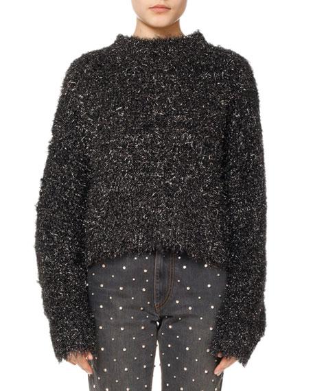 isabel marant ben fuzzy knit pullover sweater. Black Bedroom Furniture Sets. Home Design Ideas