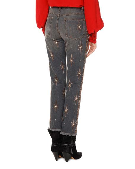 Nolan Star-Embellished Slim-Straight Jeans