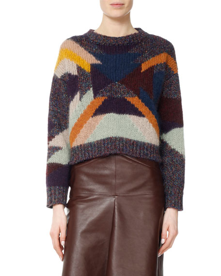 Isabel Marant Gladys High-Waist Ruched Leather Skirt and
