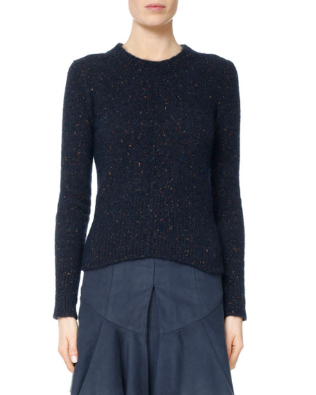 Isabel Marant Ethan Donegal Alpaca-Blend Open-Back Sweater and