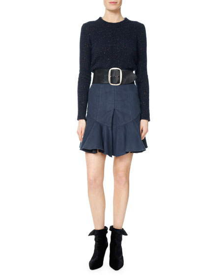 Parma Moleskin Pleated Flounce Skirt