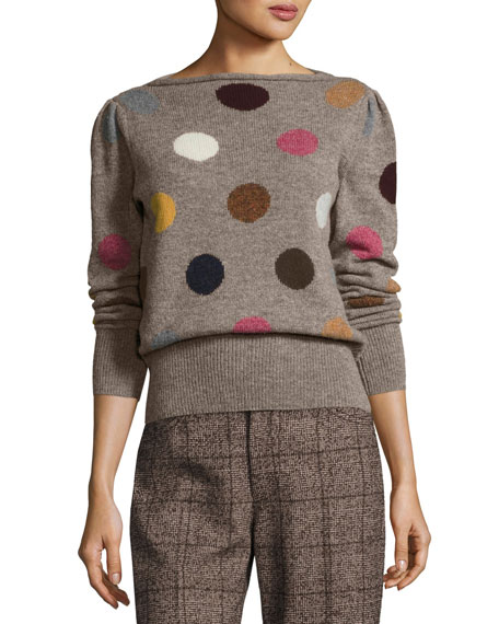 Marc Jacobs Polka Dot Intarsia Wool Sweater and