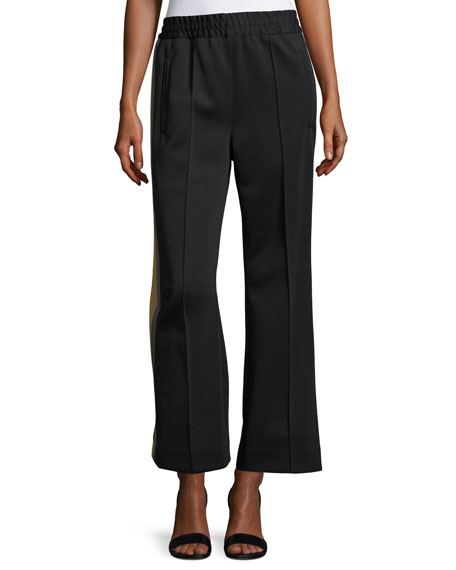Marc Jacobs Striped-Side Cropped Track Pants and Matching