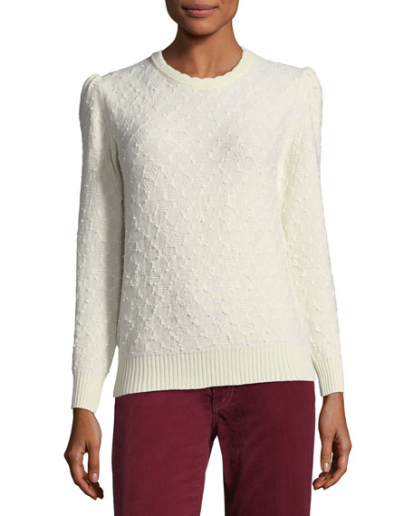 Marc Jacobs Crewneck Long-Sleeve Knit Sweater