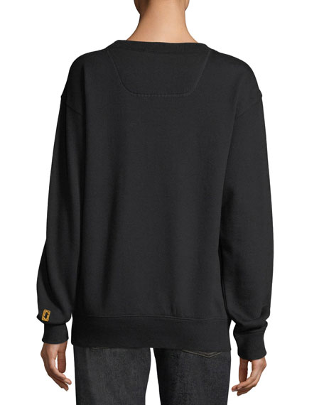 Beaded Logo Crewneck Sweatshirt