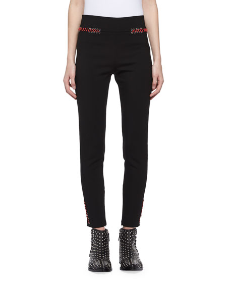 Alexander McQueen Whipstitch Skinny Ankle Pants and Matching