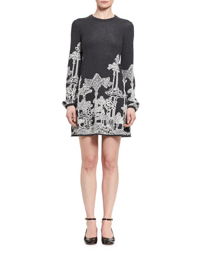 Dreamscape Merino Wool Minidress
