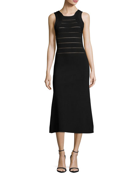Narciso Rodriguez Sleeveless Knit Midi Dress