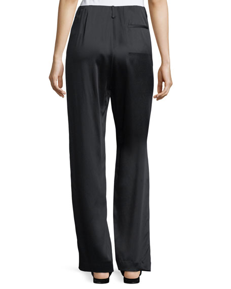 Firth Satin Wide-Leg Pants