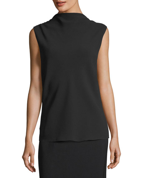 THE ROW Sandra Draped Silk V-Back Top and