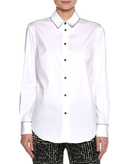 Piazza Sempione Beaded Cotton Shirt