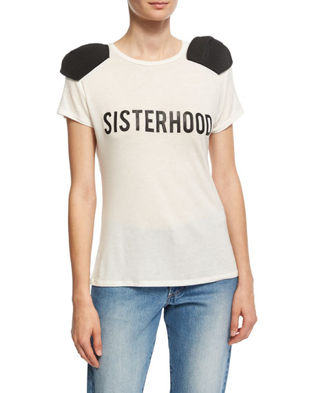 Johanna Ortiz Sisterhood Bow-Shoulder T-Shirt