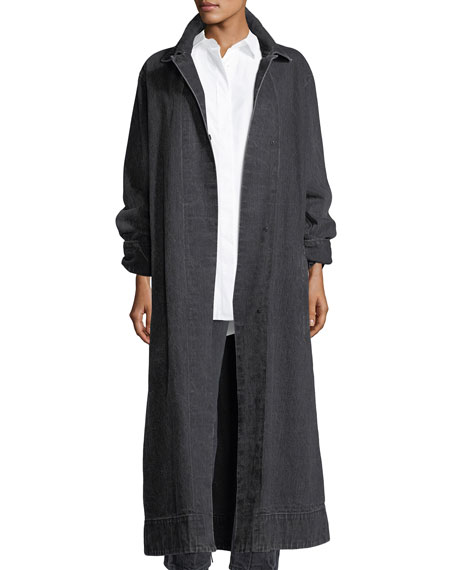 Luster Long Denim Coat