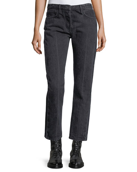 THE ROW Ashland Cropped Straight-Leg Jeans and Matching