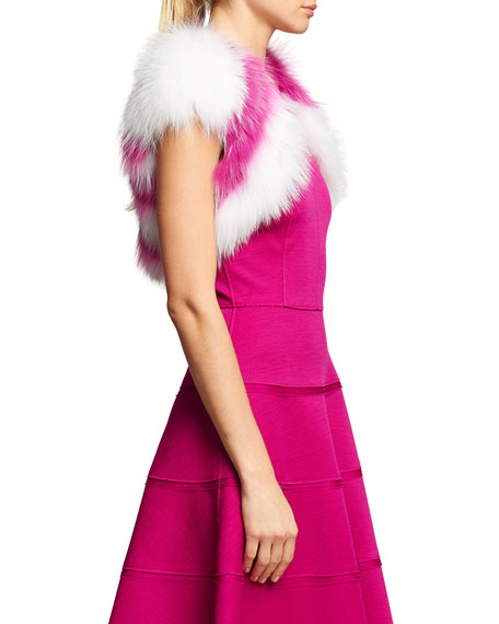 Striped Fox Fur Bolero