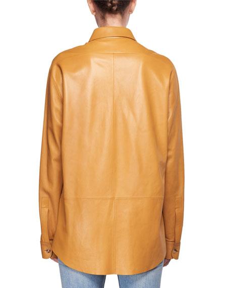 Nopa Lambskin Leather Shirt