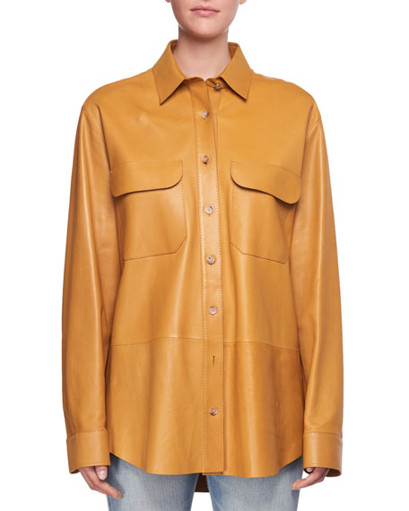 Nopa Lambskin Leather Shirt