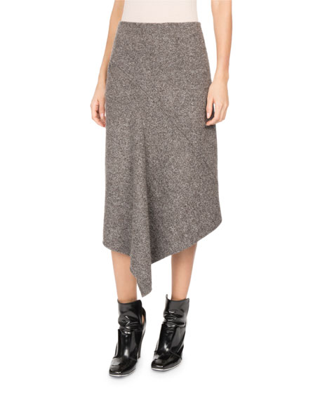 Atlein Galaxy Tweed Asymmetric Midi Skirt