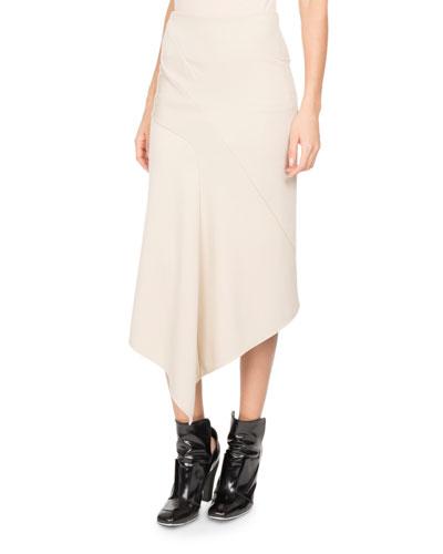 Jersey Asymmetric Midi Skirt