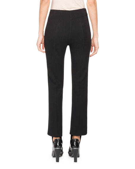 Asymmetric High-Waist Kick-Flare Pants