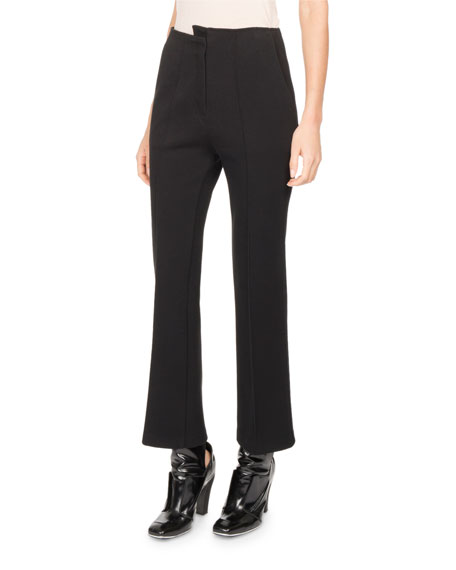 Atlein Asymmetric High-Waist Kick-Flare Pants