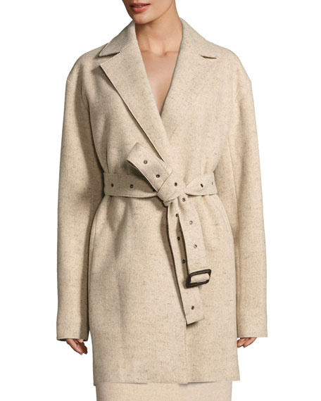 THE ROW Monire Belted Wool-Blend Jacket and Matching