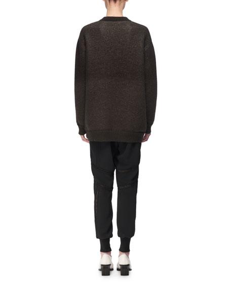 Horse Intarsia Virgin Wool Crewneck Sweater