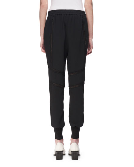 Libby Lace-Inset Jogger Pants