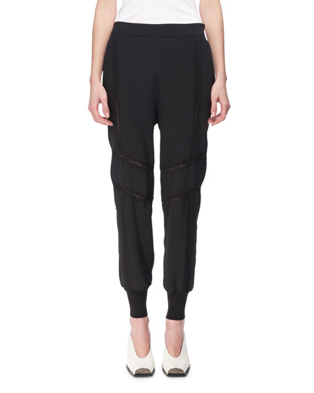 Stella McCartney Libby Lace-Inset Jogger Pants