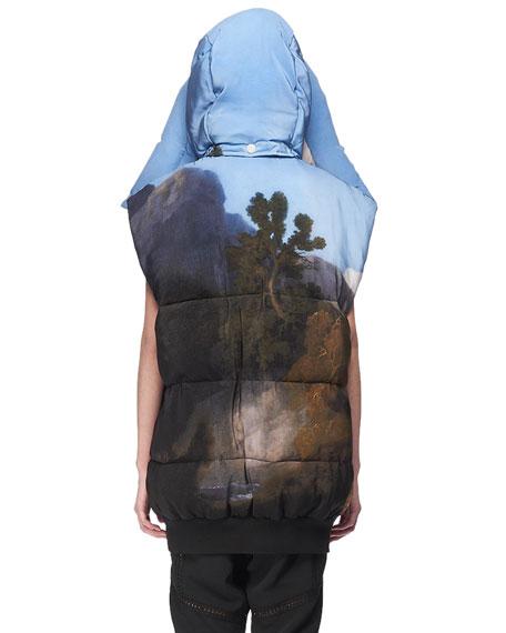 Melissa Horse-Print Puffer Vest