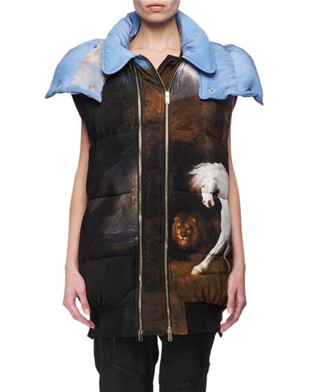 Stella McCartney Melissa Horse-Print Puffer Vest