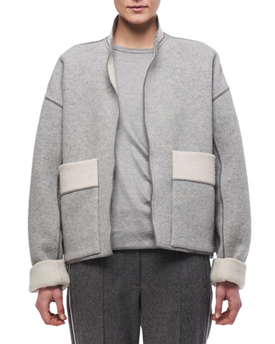 Oversized Double-Sided Wool Jacket