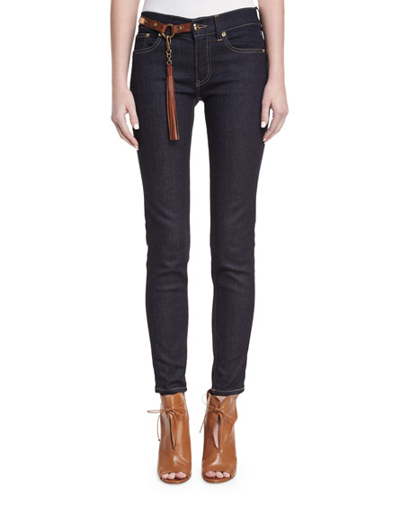 Ralph Lauren Collection 400 Matchstick Jeans with Harness