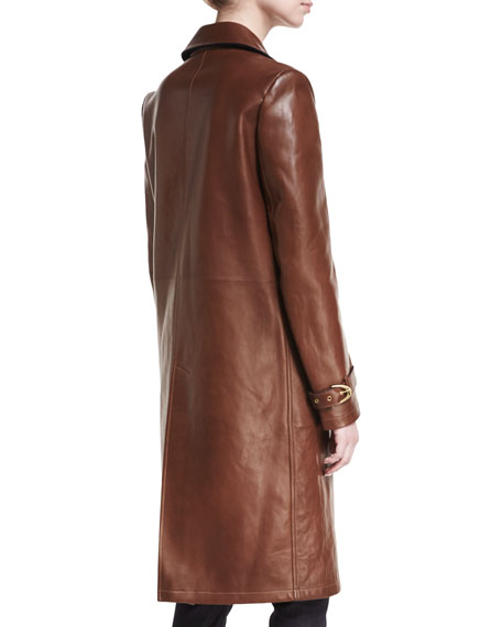 Paxton Lambskin Leather Coat
