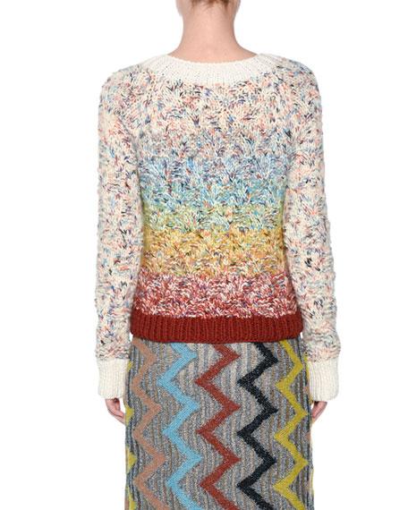 Rainbow Chunky Knit Sweater
