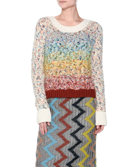 Missoni Rainbow Chunky Knit Sweater