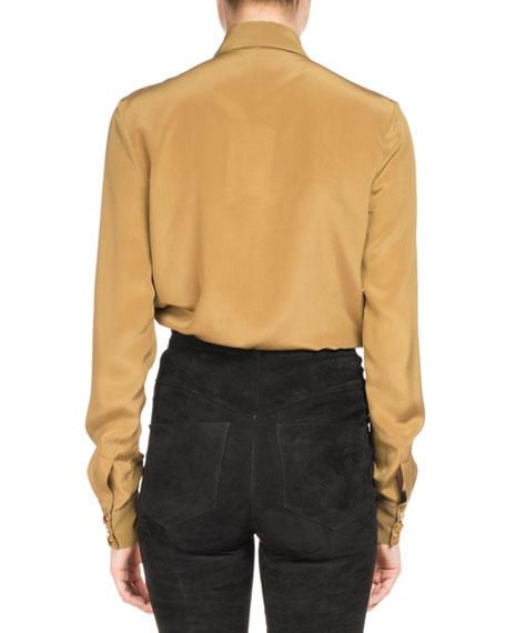 Silk Military Pocket Blouse
