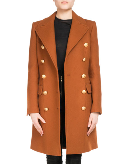 Double-Breasted Wool-Cashmere Coat