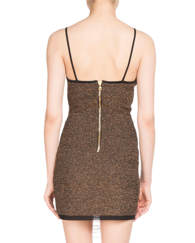 bed0c003 Balmain Chain-Wrap Slip Dress | Neiman Marcus