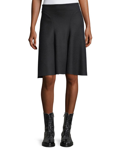 Meenda Wool-Nylon A-Line Skirt