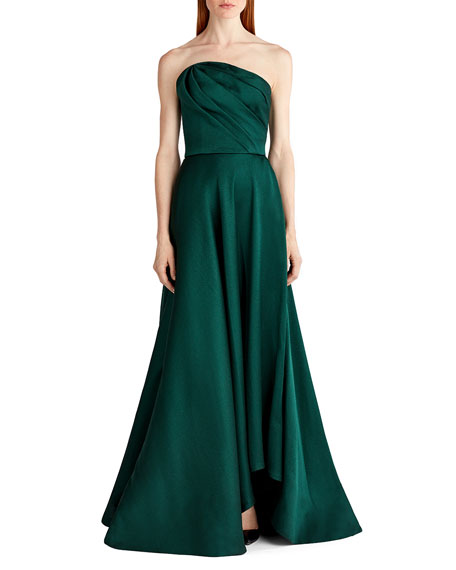 Satin Strapless Evening Gown
