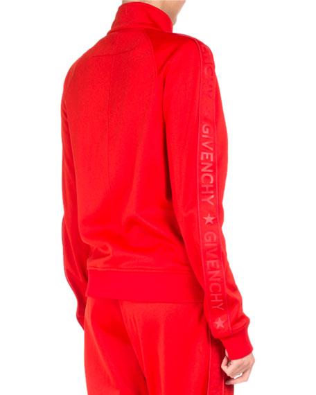 Neoprene Logo-Branded Track Jacket