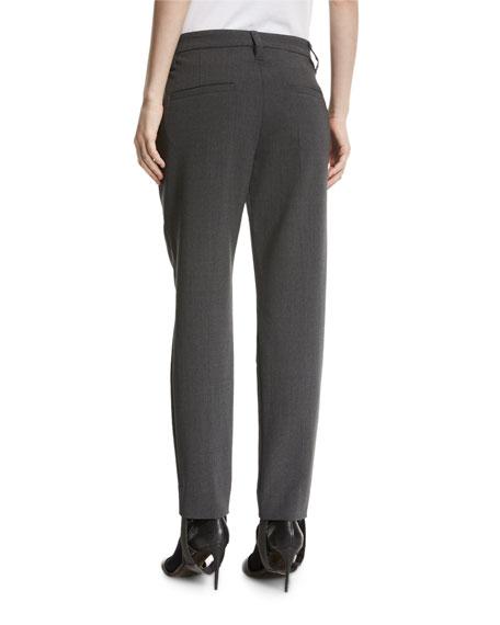 Wool Crepe Monili-Stirrup Pants