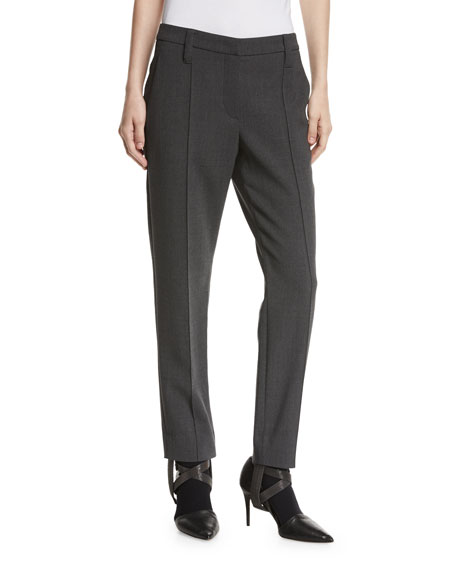 Brunello Cucinelli Wool Crepe Monili-Stirrup Pants