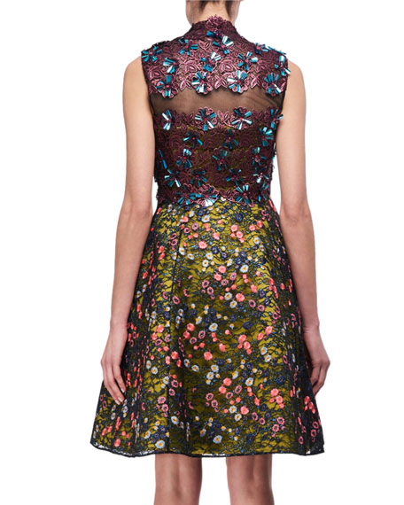 Layered Guipure Lace A-Line Cocktail Dress