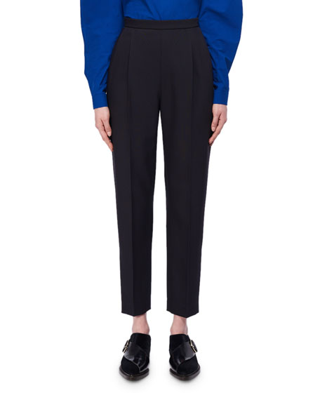 Delpozo Cropped Slim Wool-Silk Trousers and Matching Items
