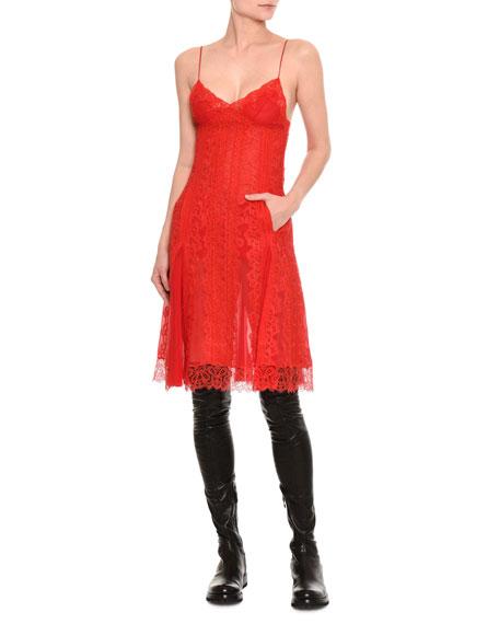 Ermanno Scervino Chantilly Lace Slip Dress