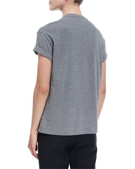 Short-Sleeve Monili-Trim T-Shirt