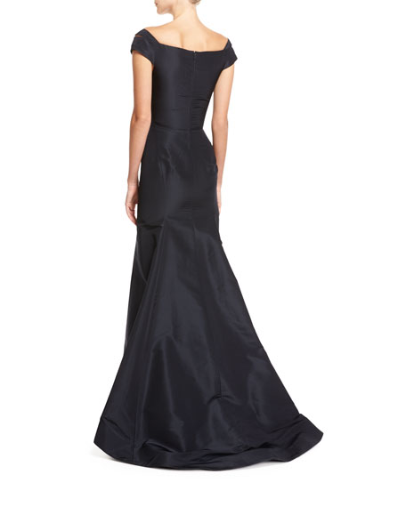 Off-the-Shoulder Trumpet Gown